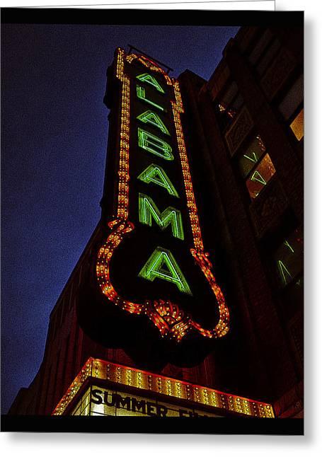 Alabama Lights Poster Greeting Card