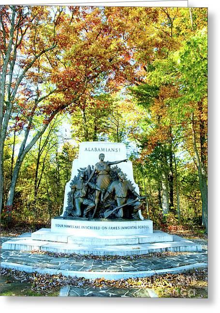 Alabama Monument At Gettysburg Greeting Card