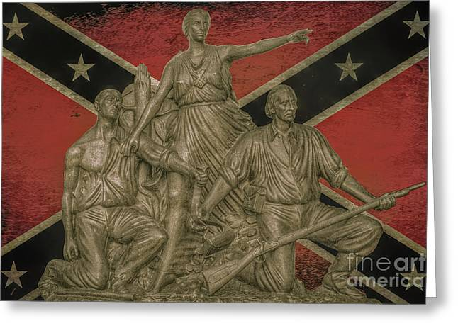 Alabama Monument Confederate Flag Greeting Card