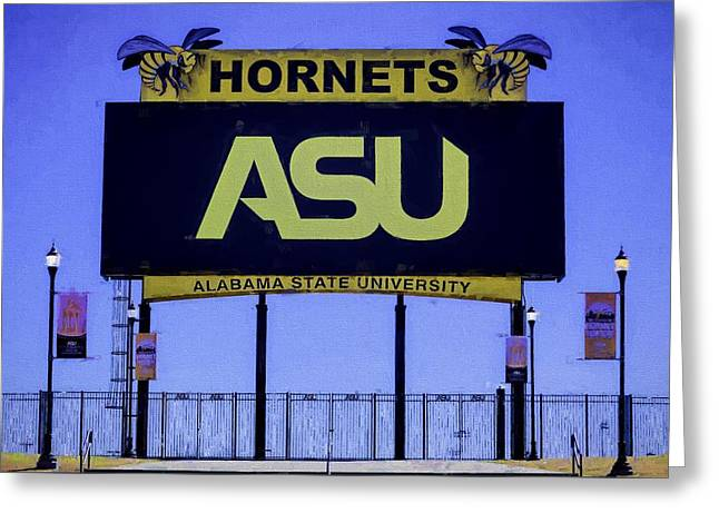 Alabama State Hornets Greeting Card by JC Findley