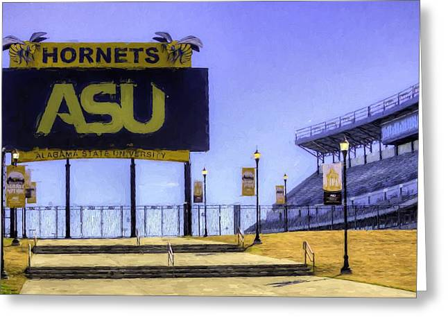 Alabama State University Greeting Card by JC Findley