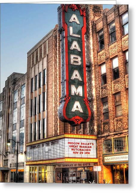 Alabama Theater In Birmingham  Greeting Card by Michael Thomas