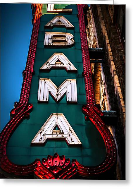 Alabama Theater Sign 1 Greeting Card by Phillip Burrow