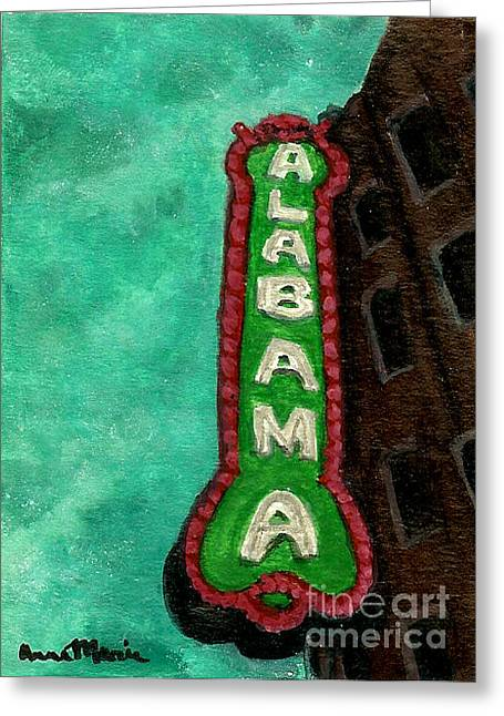 Alabama Theatre Greeting Card by AnnaMarie Armstrong