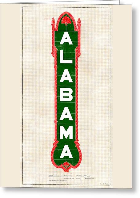 Alabama Theatre Marquee Designs Greeting Card by Mark E Tisdale