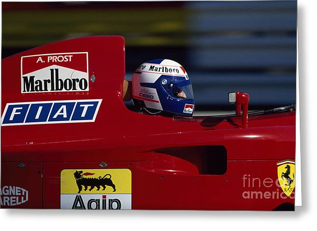 Alain Prost. 1990 French Grand Prix Greeting Card