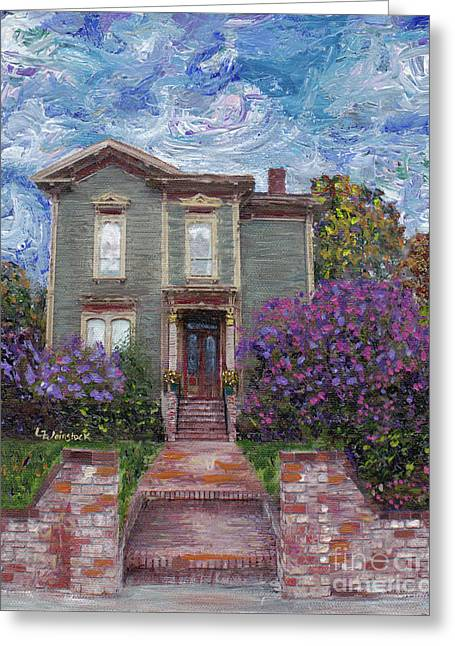 Greeting Card featuring the painting Alameda 1888 - Italianate by Linda Weinstock