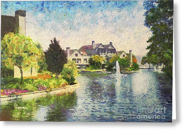 Alameda Marina Village 1 Greeting Card by Linda Weinstock