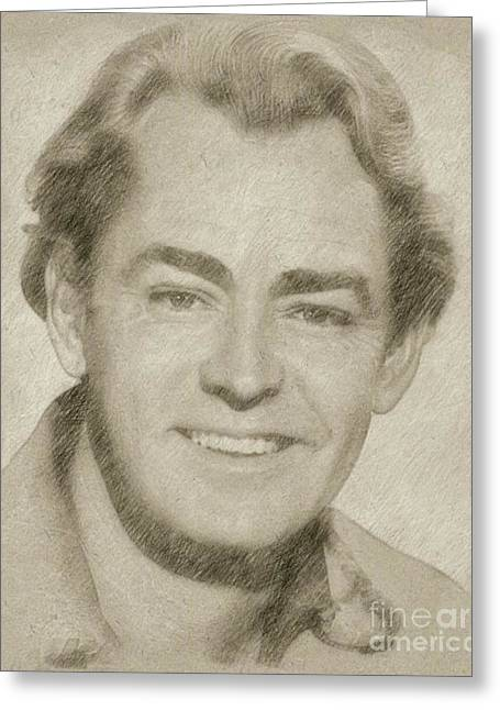 Alan Ladd Vintage Hollywood Actor Greeting Card by Frank Falcon