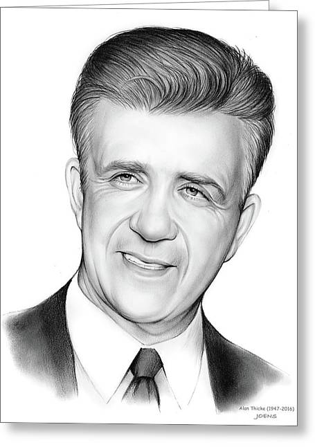 Alan Thicke 1947-2016 Greeting Card by Greg Joens