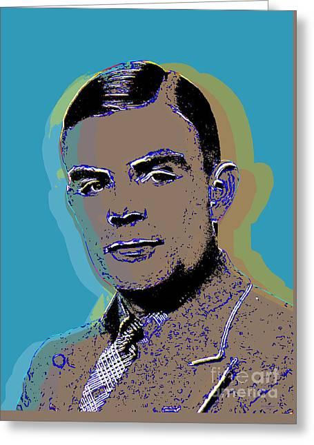 Alan Turing Pop Art Greeting Card