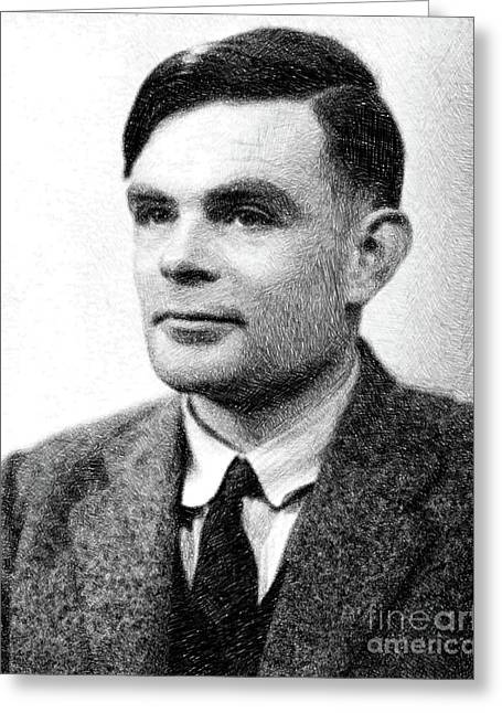 Alan Turing, Mathematical Genius By Js Greeting Card