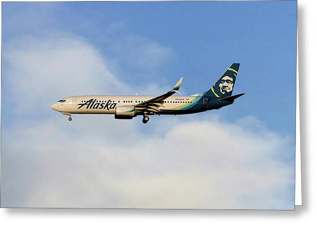 Alaska Airlines Boeing 737-890 Greeting Card
