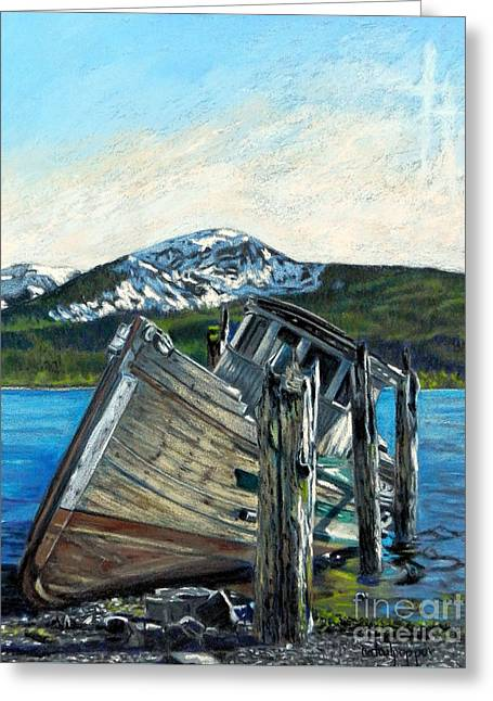 Alaska Greeting Card by Cat Culpepper