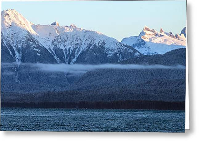 Alaska Coastal Range Panorama Greeting Card
