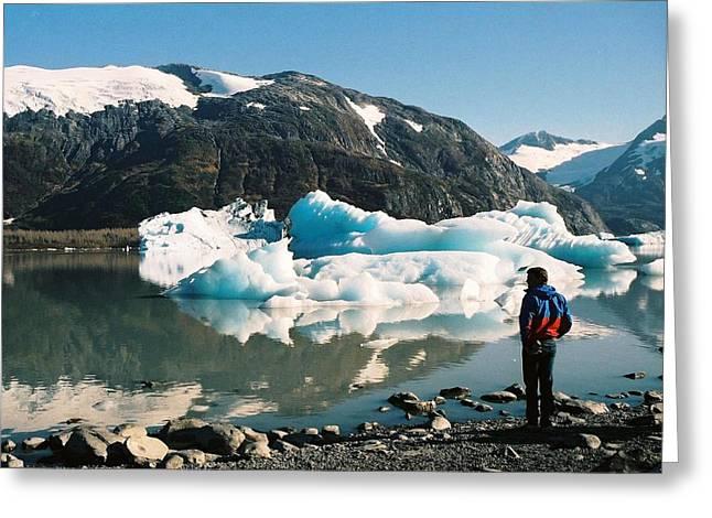 Greeting Card featuring the photograph Alaska Glacier Lake by Judyann Matthews