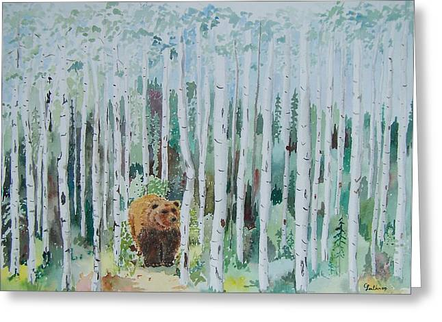 Alaska -  Grizzly In Woods Greeting Card