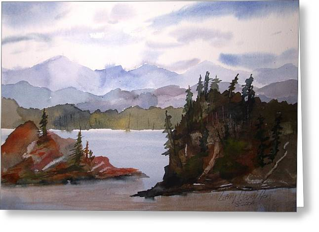 Alaska Inside Passage Greeting Card