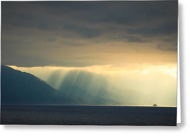 Alaska Inside Passage Under The Clouds Greeting Card