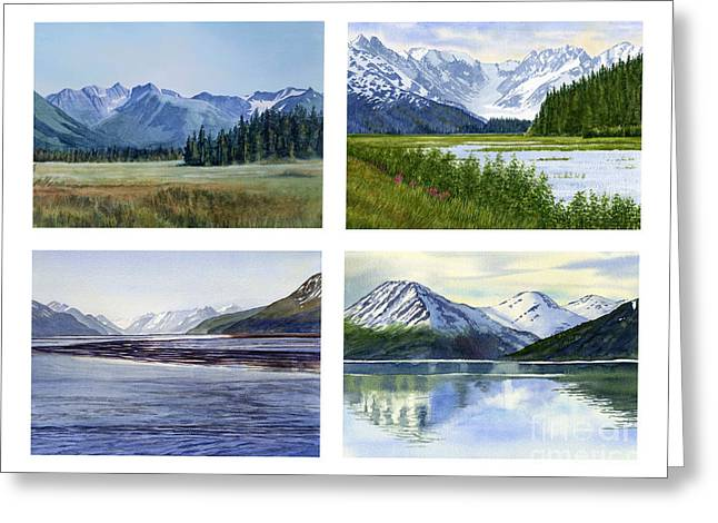 Alaska Landscape Poster 2 Greeting Card by Sharon Freeman