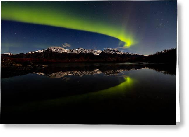 Alaska Northern Lights Greeting Card by Sam Amato