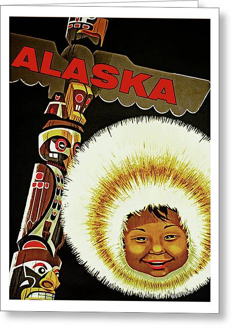 Alaska, Old Travel Poster Greeting Card by Long Shot