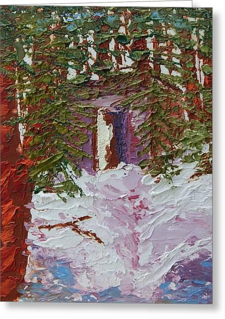Alaska Outhouse Greeting Card