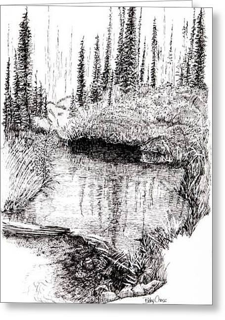 Alaska Pond Greeting Card