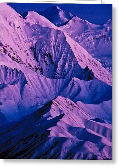 Alaska Range Twilight Greeting Card by Tim Rayburn
