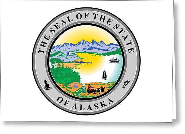 Alaska State Seal Greeting Card