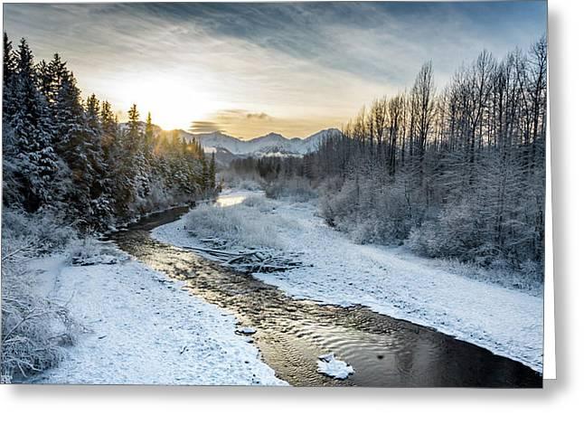 Alaska Sunset Greeting Card