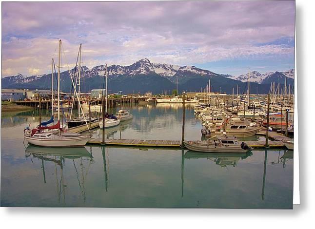 Alaskan Harbor Greeting Card