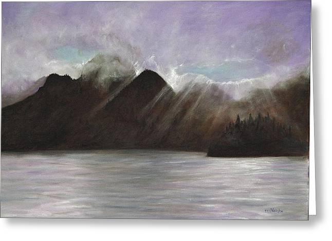 Alaskan Morning Greeting Card by Merle Blair