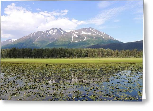 Alaskan Mountain Genuflection Greeting Card