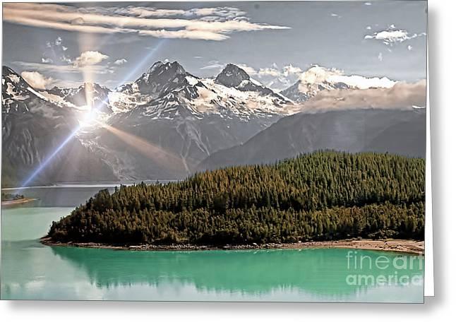 Alaskan Mountain Reflection Greeting Card