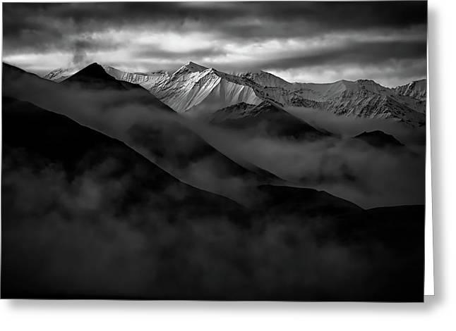 Alaskan Peak In The Shadows Greeting Card