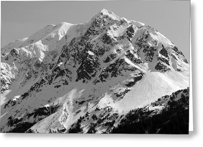 Alaskan Peak Greeting Card by Ty Nichols