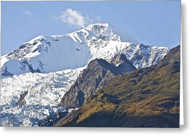 Alaskan Snowtop Greeting Card by Robert Joseph
