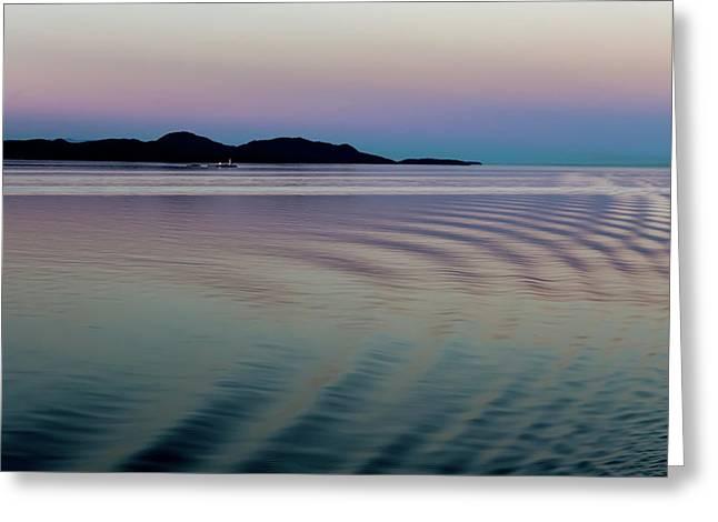 Alaskan Sunset At Sea Greeting Card