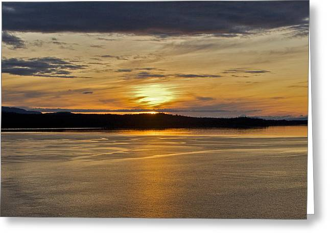 Alaskan Sunset Greeting Card by Robert Joseph