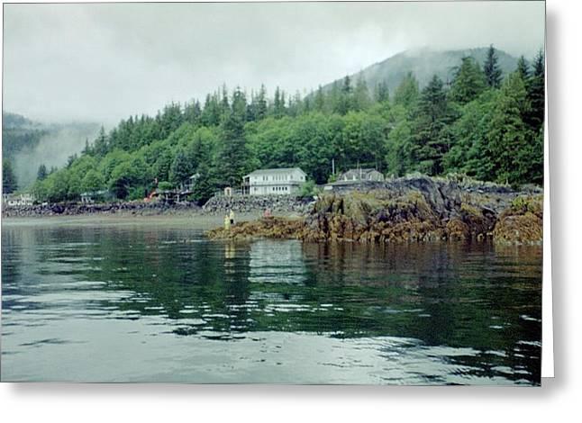 Greeting Card featuring the photograph Alaskan Village 2 by Judyann Matthews