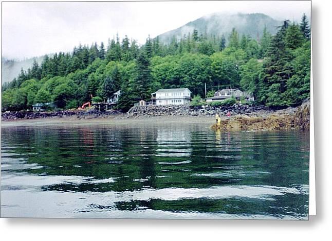 Greeting Card featuring the photograph Alaskan Village by Judyann Matthews