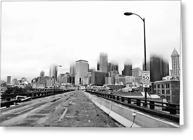 Alaskan Way Viaduct Downtown Seattle Greeting Card by Pelo Blanco Photo