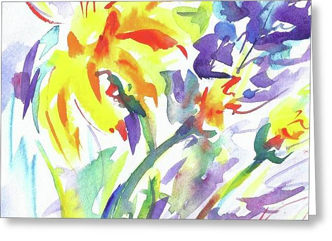 Alaskan Wildflowers Greeting Card