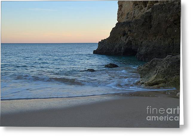 Albandeira Beach Welcoming Twilight 2 Greeting Card by Angelo DeVal