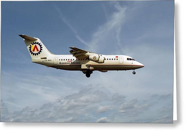 Albanian Airlines British Aerospace 146-200 Greeting Card