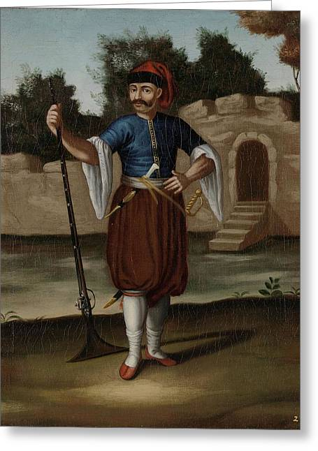 Albanian Soldier, Jean Baptiste Vanmour, 1700 - 1737 Greeting Card by Celestial Images