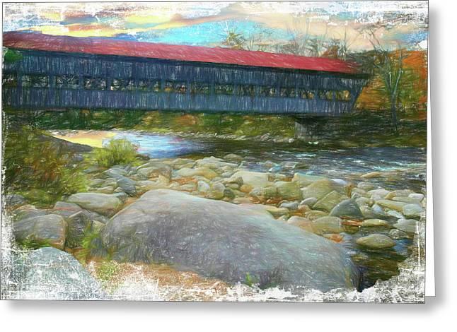 Albany Covered Bridge Nh. Greeting Card