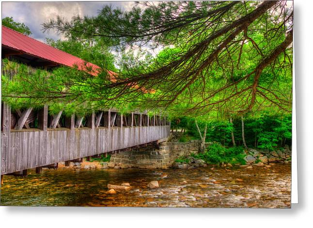 Albany Covered Bridge - White Mountains New Hampshire Greeting Card by Joann Vitali