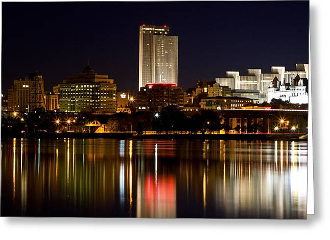 Albany On The Hudson Greeting Card by Don Nieman